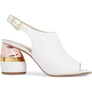 Kenneth Cole lucite mules